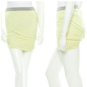 T by Alexander Wang Yellow Twist Mini Skirt